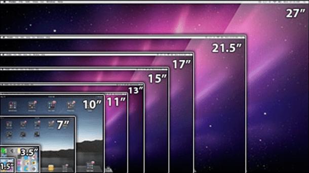 Infographie comparatif des formats d crans des produits for Test ecran pc 27 pouces