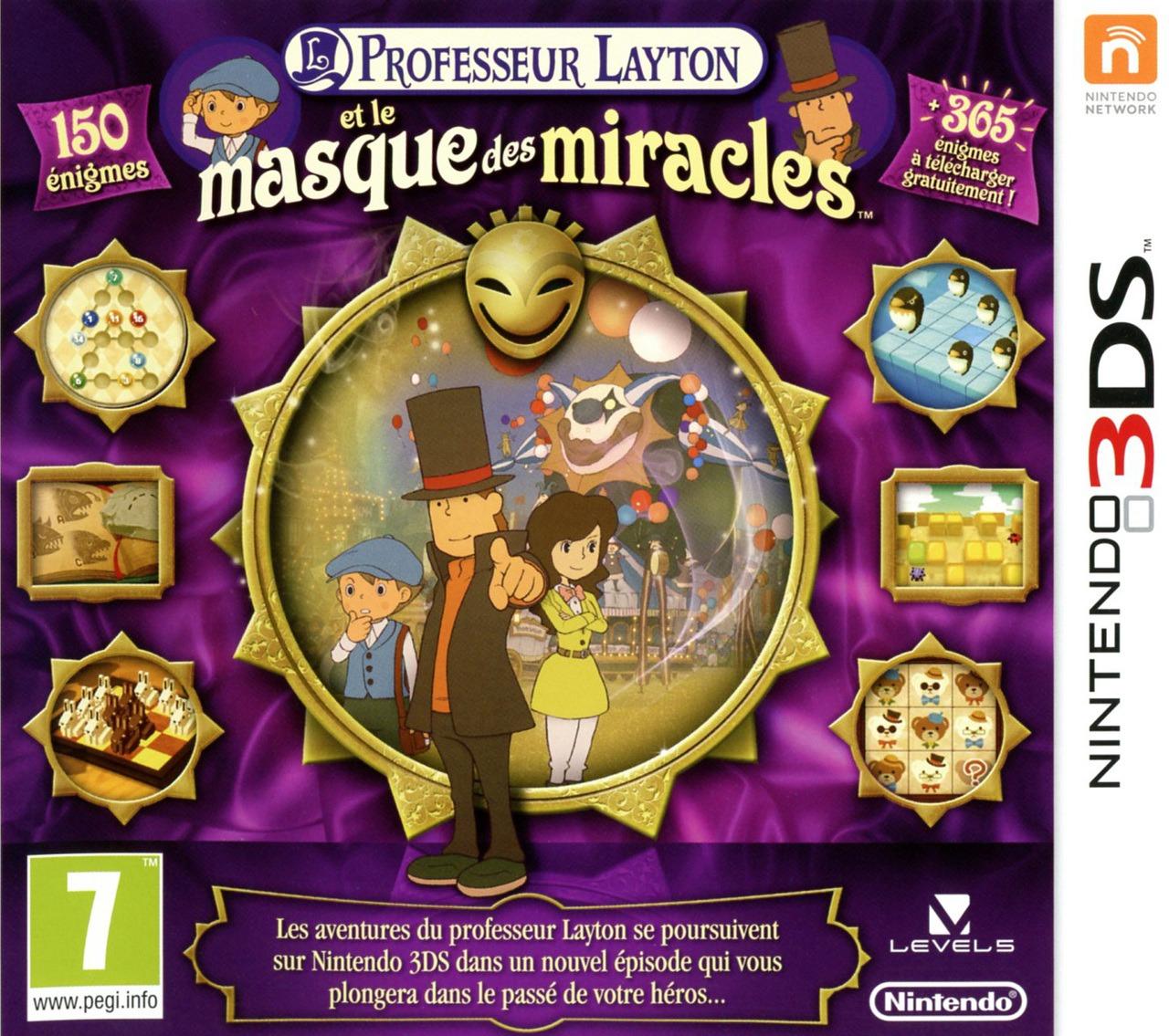 professeur layton et le masque des miracles nintendo 3ds