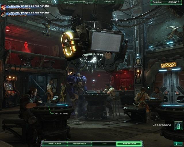Le bar de l'Hyperion est interactif, et vous pourrez choisir la musique qui passe sur le jukebox, ou encore acheter des mercernaires