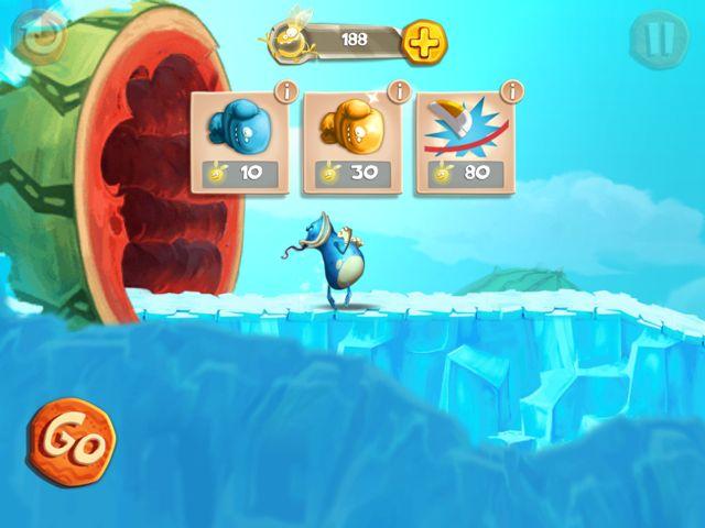 Rayman Fiesta Run - Des bonus sont disponibles afin d'aider les joueurs en difficulté.