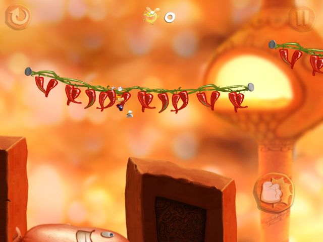 Rayman Fiesta Run - Les univers sont tous plus délirant les uns que les autres.