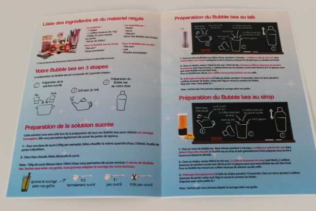 Le guide de recette pour faire de bon Bubble Tea.