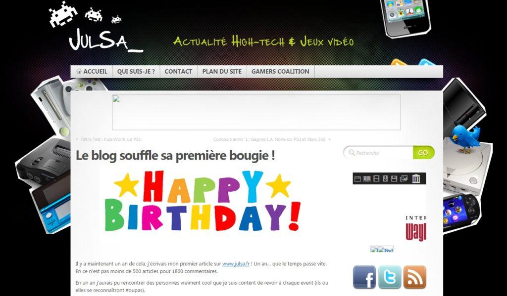 Voici la première version de Julsa.fr