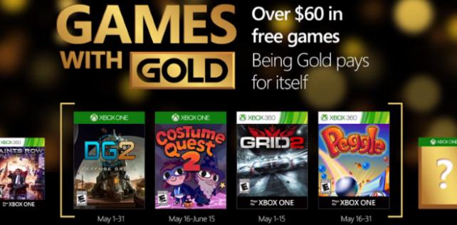 Games With Gold : les jeux offerts en mai 2016