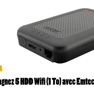 Concours : Gagnez 5 HDD Wifi (1 To) avec Emtec
