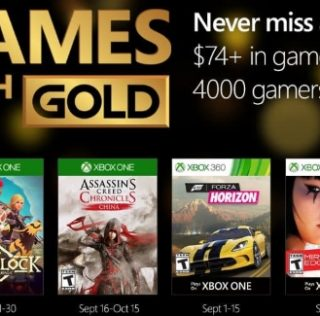Games With Gold : les jeux offerts en septembre 2016