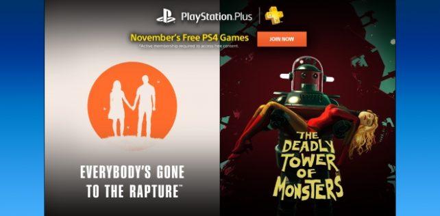 Les jeux PlayStation Plus du mois de novembre 2016