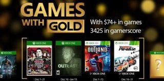 Games With Gold : les jeux offerts en décembre 2016