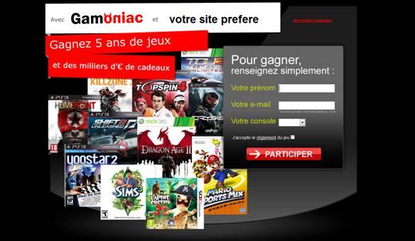 Concours : Gagnez 5 ans de jeux vidéo avec Gamoniac et JulSa_