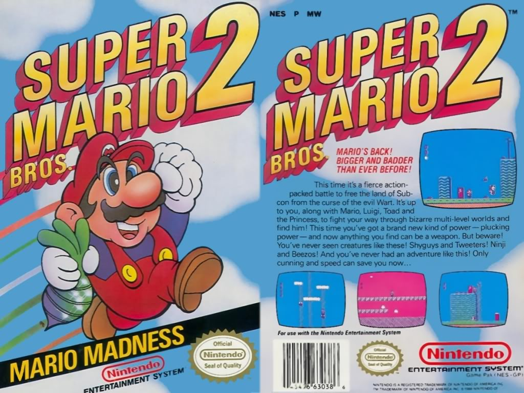 r tro test super mario bros 2 sur nes. Black Bedroom Furniture Sets. Home Design Ideas