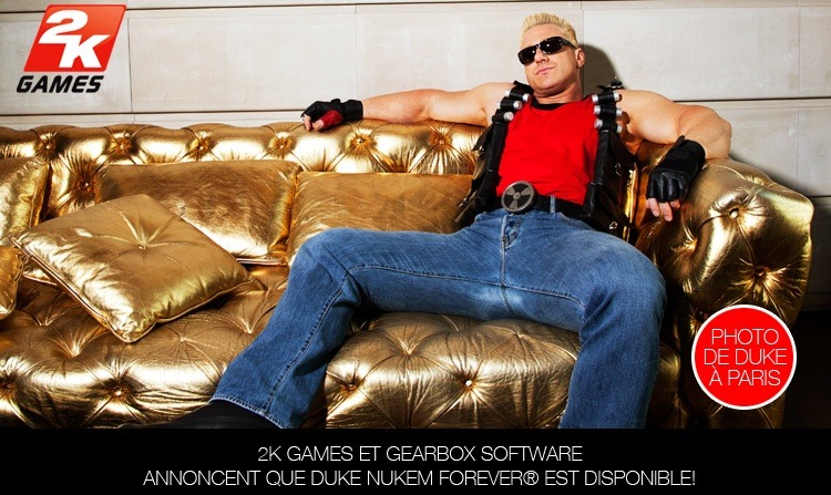 2K Games et Gearbox Software annoncent que Duke Nukem Forever est disponible