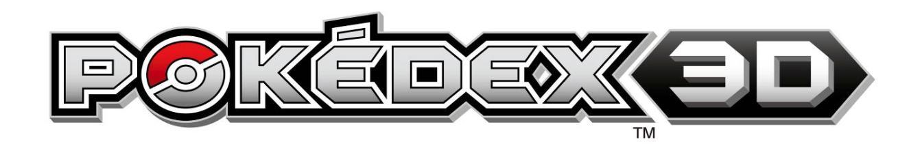 Pokédex 3D : Obtenir tous les codes RA / AR