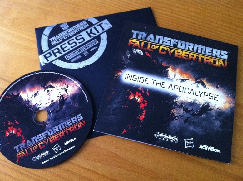 Arrivage : Kit press de Transformers : Fall of Cybertron