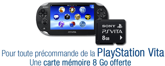 Pré-commande : PlayStation Vita + Carte mémoire 8 Go offerte (Bon Plan)
