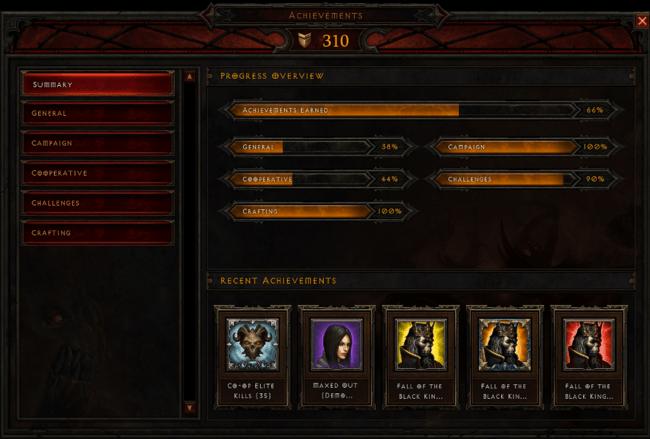 Diablo 3 : La liste des Hauts-Faits