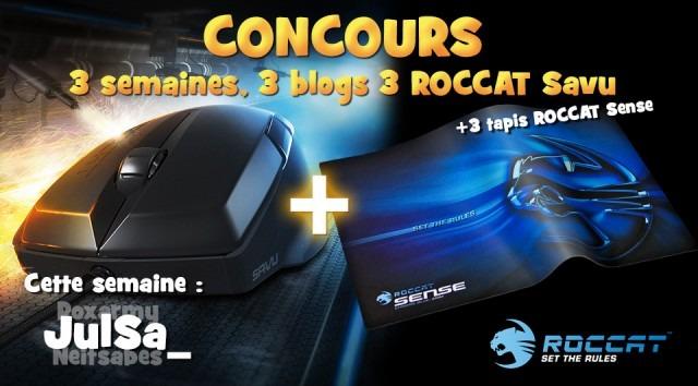 Concours : Gagnez une souris ROCCAT Savu et un tapis ROCCAT Sense