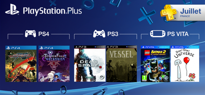 Les jeux PS Plus du mois de juillet 2014