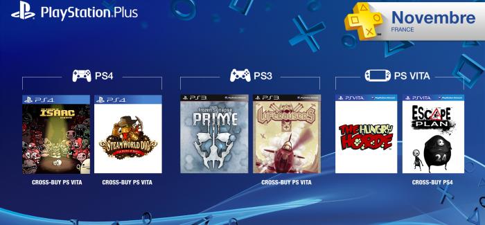 Les jeux PlayStation Plus du mois de novembre 2014