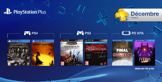 Les jeux PlayStation Plus du mois de décembre 2014