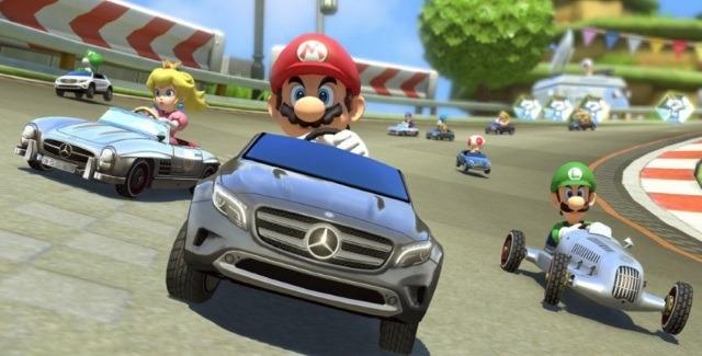 Mario Kart 8 : Mario roule en Mercedes GLA