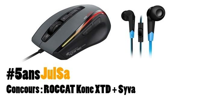 Concours : Gagnez ROCCAT Kone XTD + Syva