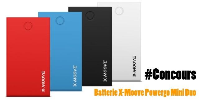 Concours : Gagnez une batterie externe X-Moove Powergo Mini Duo