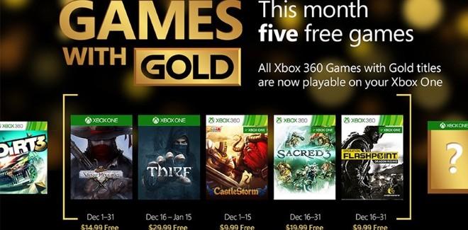 Games With Gold : les jeux offerts en décembre 2015