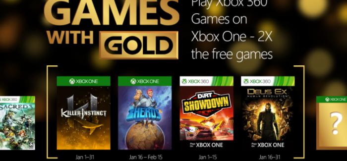 Games With Gold : les jeux offerts en janvier 2016