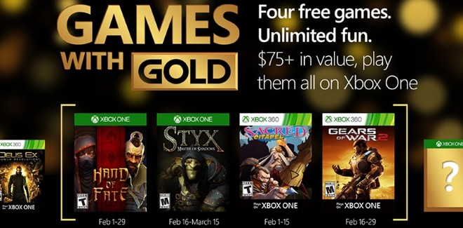 Games With Gold : les jeux offerts en février 2016