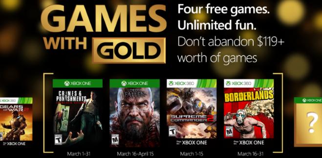 Games With Gold : les jeux offerts en mars 2016