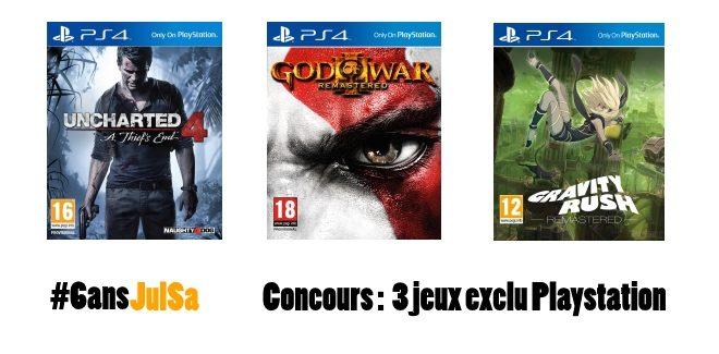 Concours : Gagnez 3 jeux exclu PlayStation !