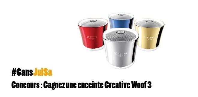 Concours : Gagnez une enceinte Creative Woof 3