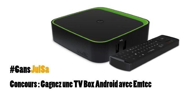 Concours : Gagnez une TV Box Android avec Emtec