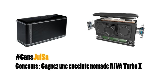 Concours : Gagnez une enceinte nomade RIVA Turbo X