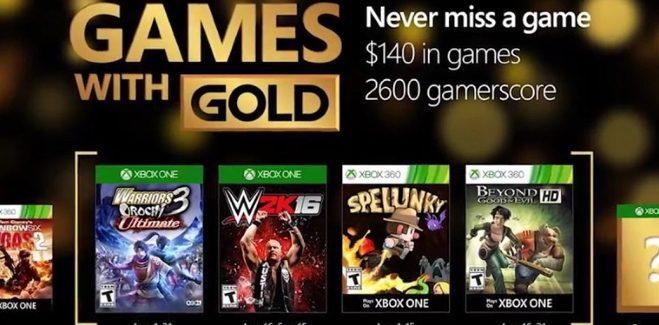 Games With Gold : les jeux offerts en août  2016