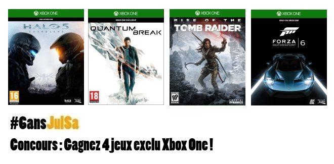 Concours : Gagnez 4 jeux exclu Xbox One !