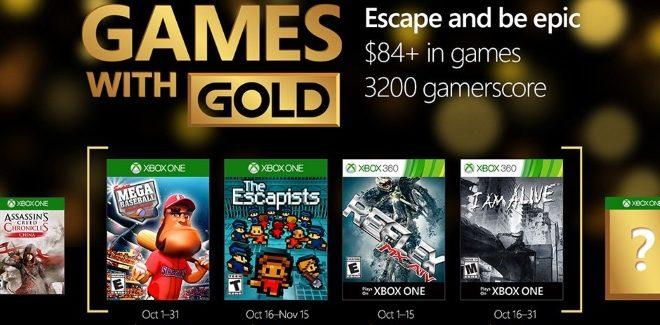 Games With Gold : les jeux offerts en octobre 2016