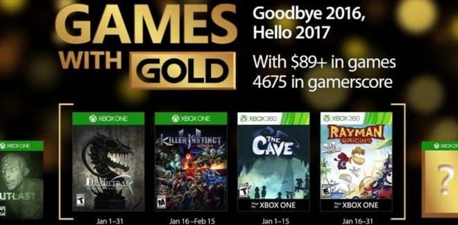 Games With Gold : les jeux offerts en janvier 2017