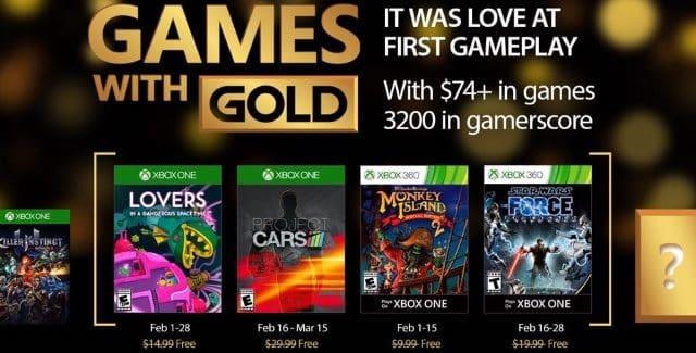 Games With Gold : les jeux offerts en février 2017