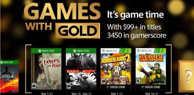 Games With Gold : les jeux offerts en mars 2017