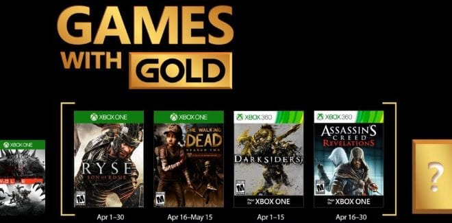 Games With Gold : les jeux offerts en avril 2017