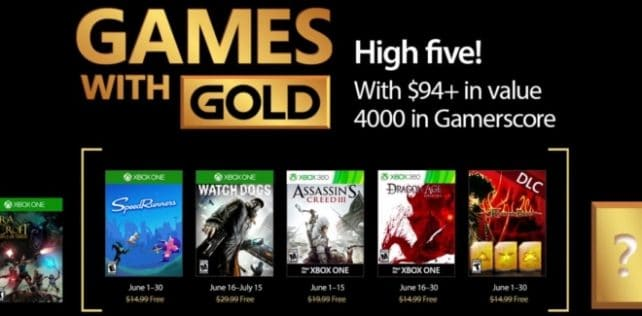 Games With Gold : les jeux offerts en juin 2017