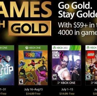 Games With Gold : les jeux offerts en juillet 2017