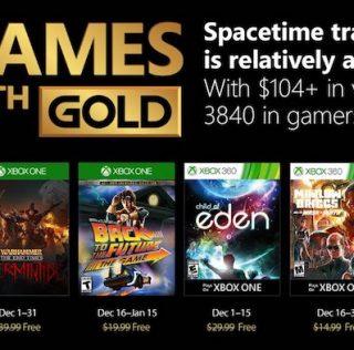 Games With Gold – Les jeux offerts en décembre 2017