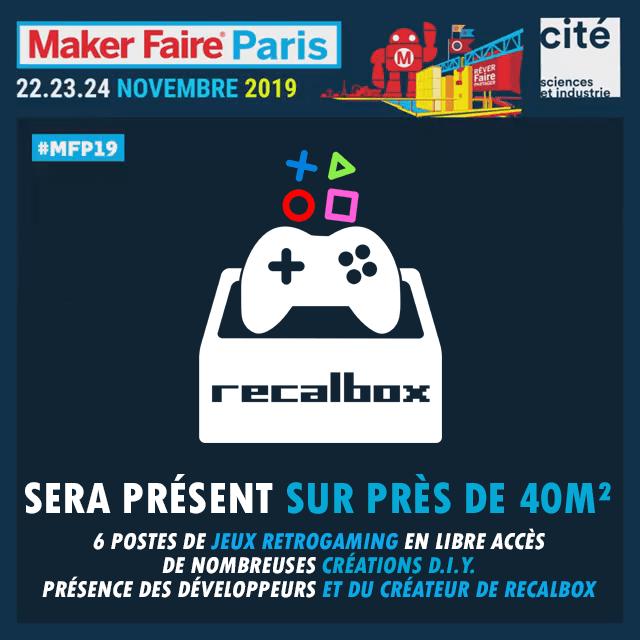 Logo : RECALBOX à la Maker Faire